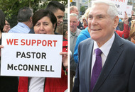 Hundreds support Pastor McConnell at court appearance