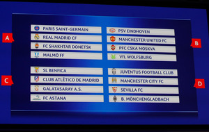 City will face Juventus and Seville in Champions League