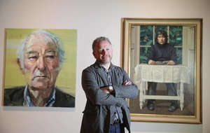 First and last Heaney portraits hang side by side