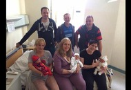Three sisters give birth on same day in the same hospital