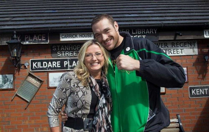 Fury charmed fans during visit to Belfast