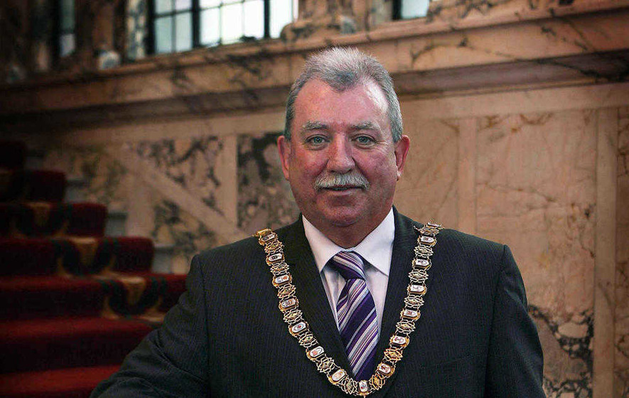 Former SDLP mayor and republican internee Pat McCarthy accepts MBE