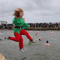 Carnlough harbour swim attracts hardy souls