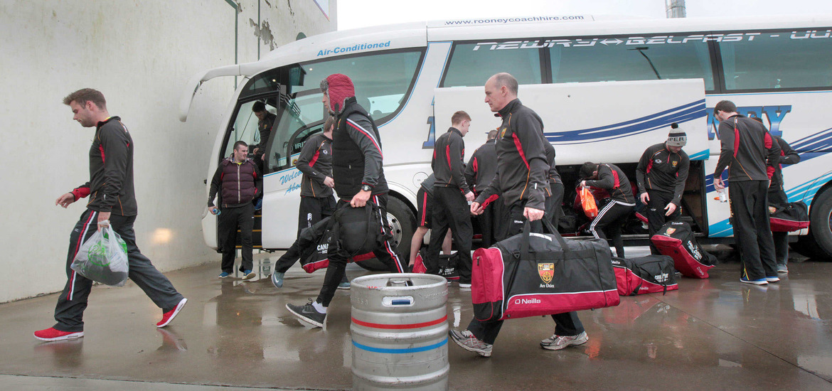 The down team arriving for the match