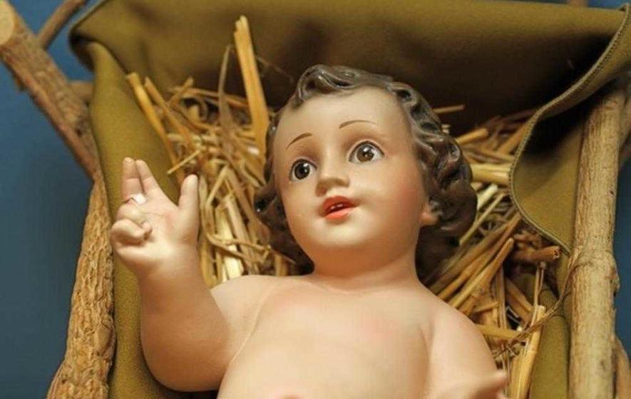 baby jesus stolen from crib at co wicklow church the irish news