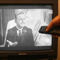 Around 100 people still watching black and white TVs