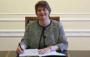 Arlene Foster praises Queen as 'tremendous leader' on school visit