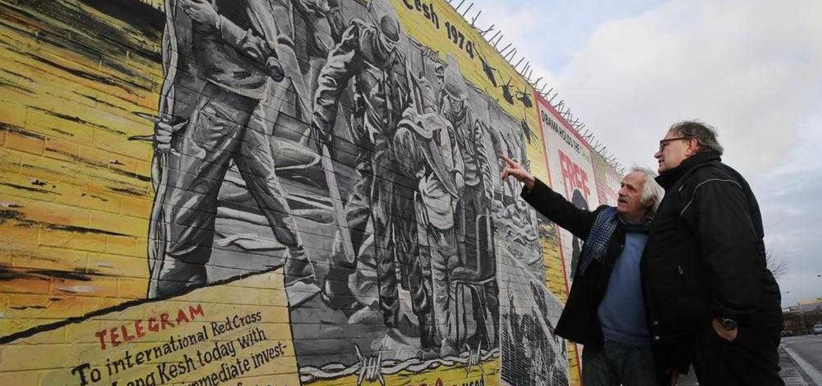 International peace murals come down to reflect 1916 for Easter rising mural