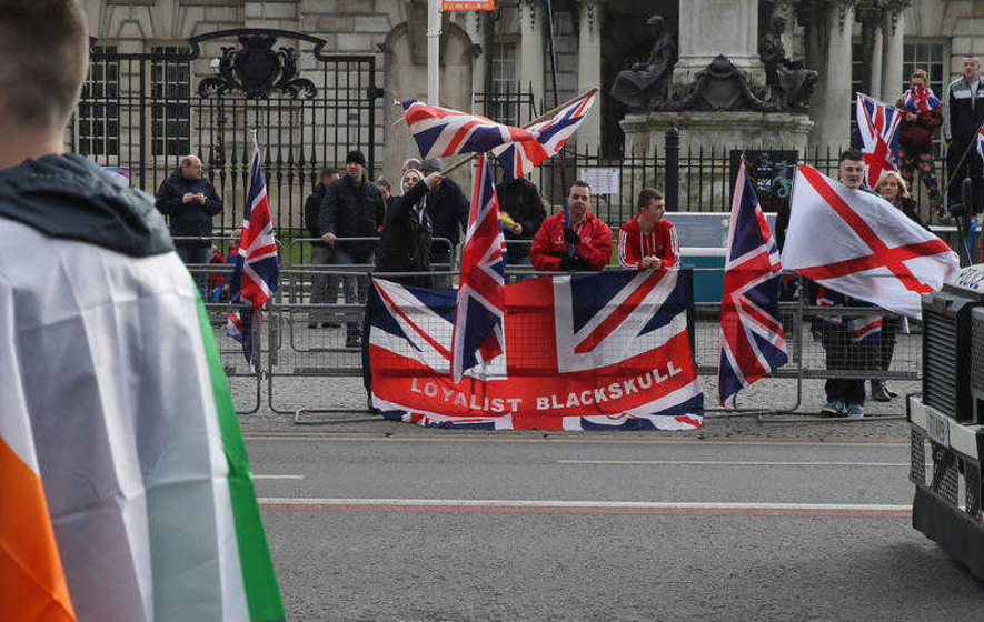 Police 'not informed' of St Patrick's Day flag protest