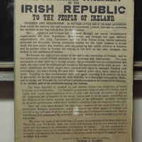 Rare copy of 1916 Proclamation to go under the hammer