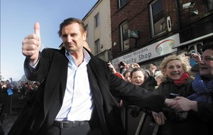 Liam Neeson joins Ballymena rally call for more jobs