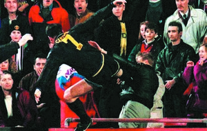Jan 25: On this day - Manchester United's Eric Cantona kung-fu kicks a Crystal Palace fan