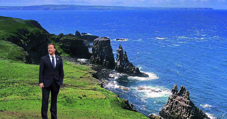 David Cameron Fears Exile On Rathlin Island The Irish News