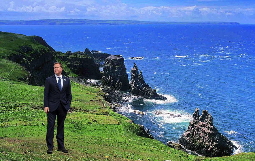 David Cameron 'fears exile' on Rathlin Island