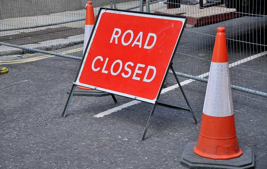 Road closures following bad weather