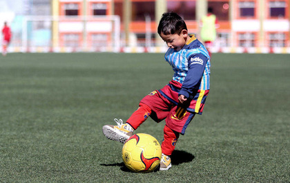 1fee1f6ca Threats force five-year-old Lionel Messi fan and family to leave Afghanistan