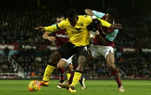 Jordan Ayew sees red as Aston Villa lose again at West Ham