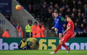 Jamie Vardy at the double as Leicester beat Liverpool