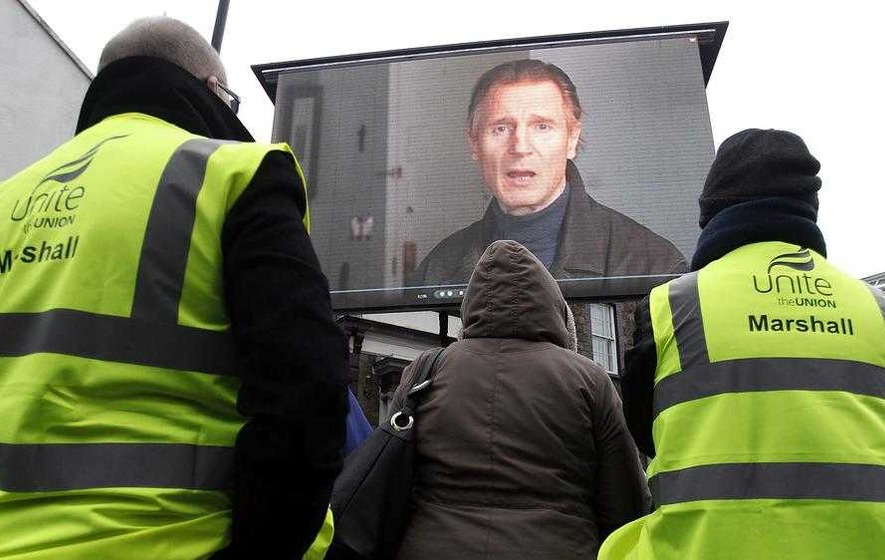 Liam Neeson calls on Stormont to protect manufacturing jobs