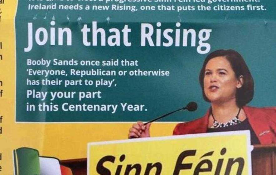 Sinn Féin claim 'election boob' leaflet was altered