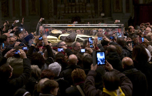 Thousands turn out as remains of Padre Pio go on display in the Vatican