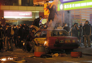 Dozens injured in Hong Kong 'fish ball riot'