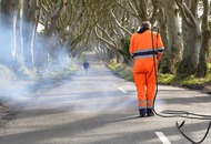 Workers return to remove road markings at Dark Hedges