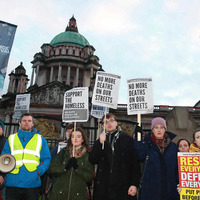 Rally hears of second homeless death in Belfast this week