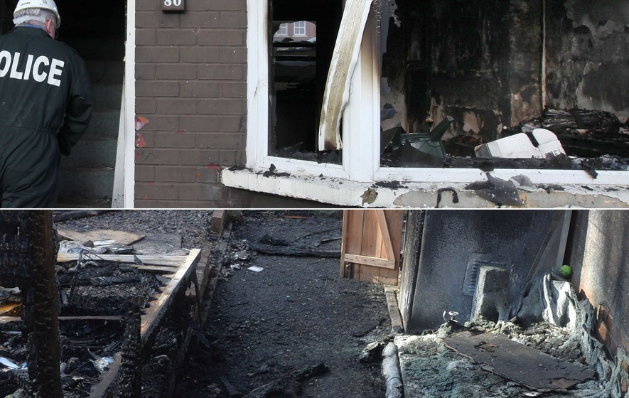 Two suspected arson attacks leave two houses gutted
