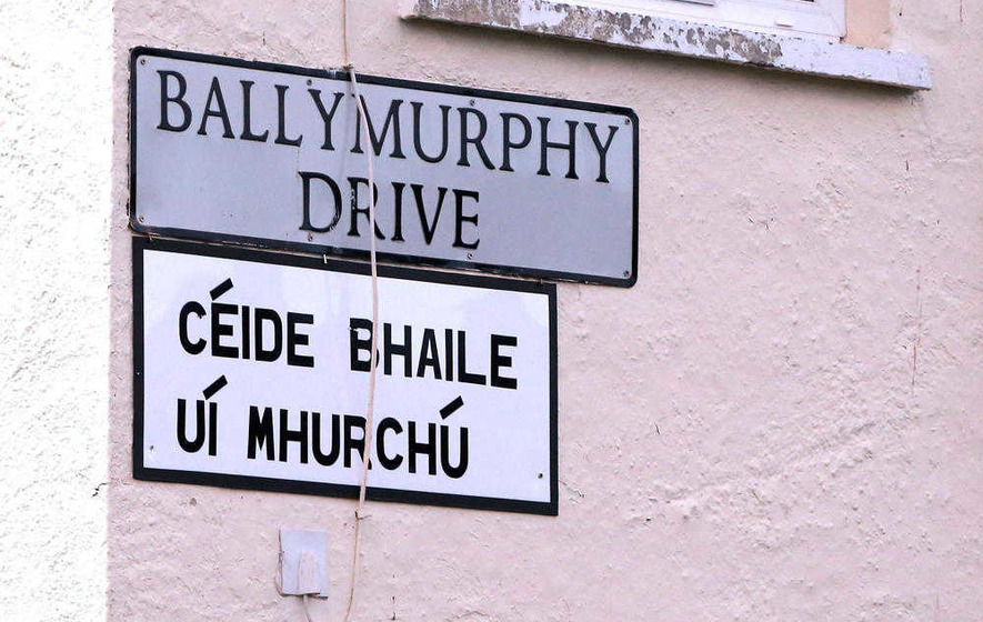 Irish street sign erected as council battle rumbles on
