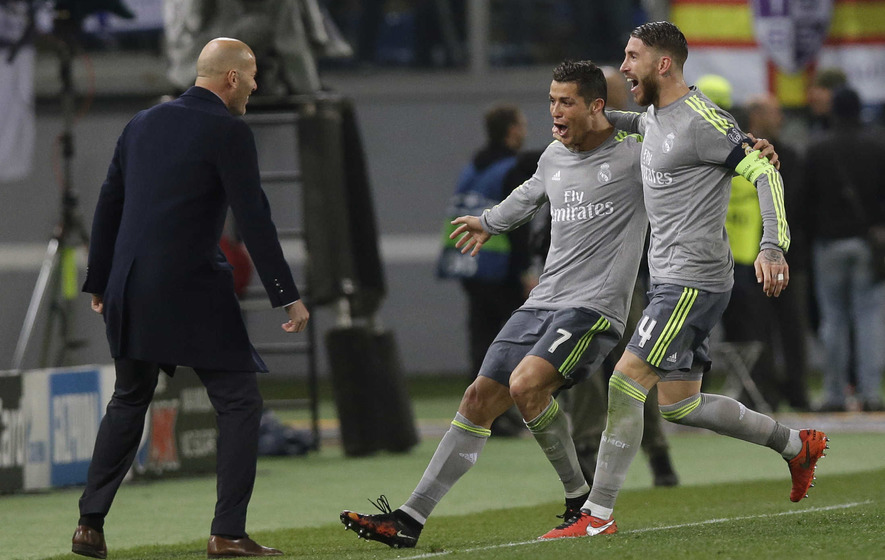 Real Madrid in control against Roma as Ronaldo strikes