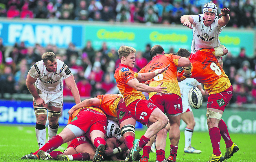 PRO12: Ulster come up short against Scarlets