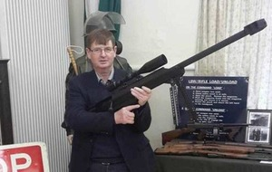 Willie Frazer defends posing with guns on Facebook