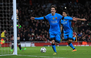 Messi at the double as Gunners fall silent