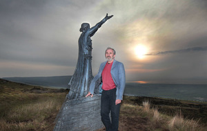 Manannan Mac Lír statue back in place at Binevenagh