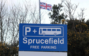 Union flags at Sprucefield Park and Ride to stay