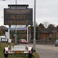 Police in roadside warning to householders over burglaries