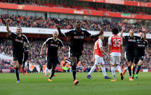 Watford stun Arsenal to make FA Cup semi-finals