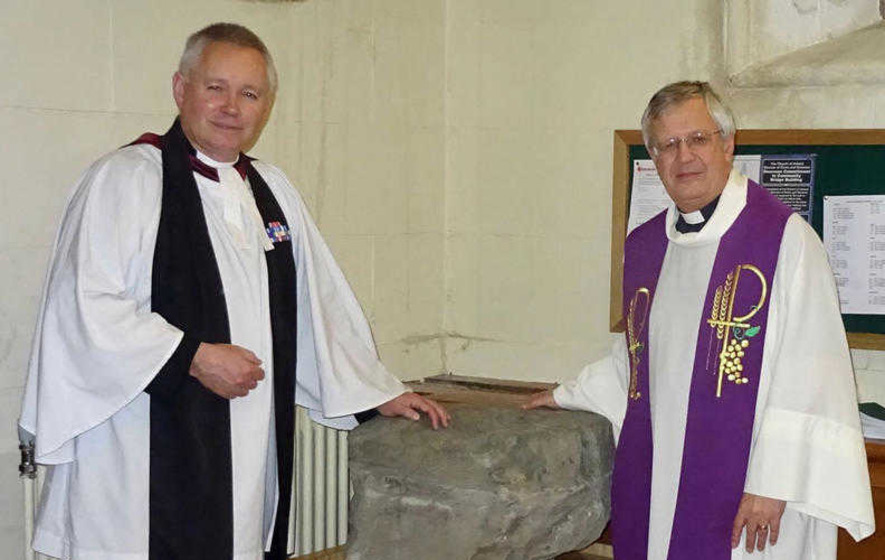 Ancient religious stone with St Patrick links presented to Cathedral