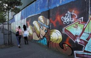 One in five in shadow of peace walls on anti-depressants