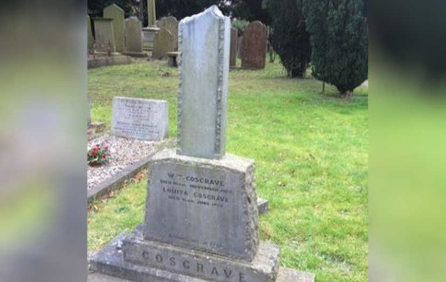 Headstone of Irish leader W T Cosgrave vandalised