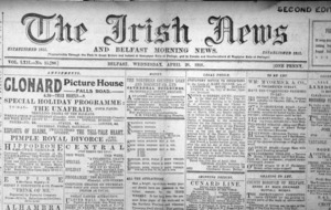 1916: Front page of Irish News carried no inkling of conflict