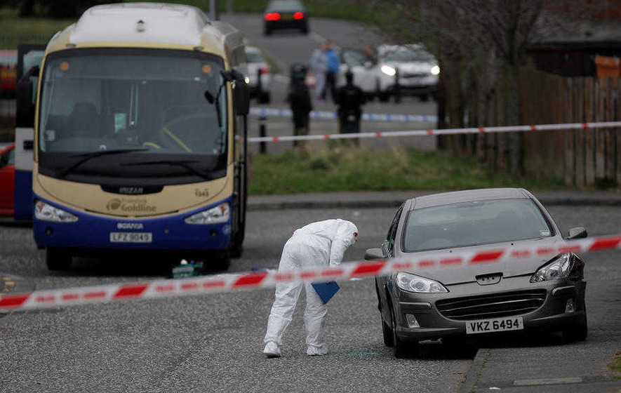 Man shot in gangland attack outside school named as Jim Carlisle jnr