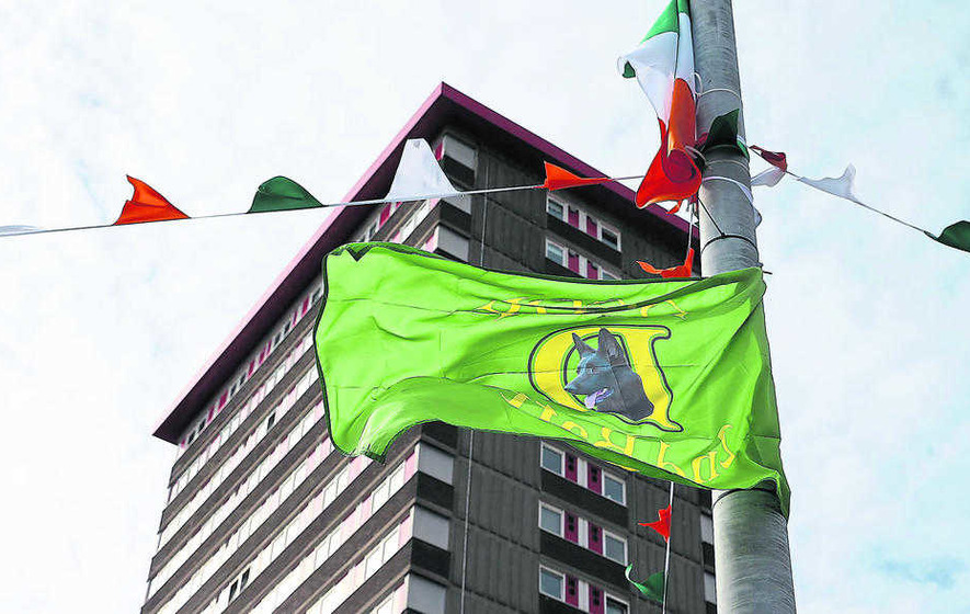 Provisional IRA 'D Company' flags in Belfast condemned
