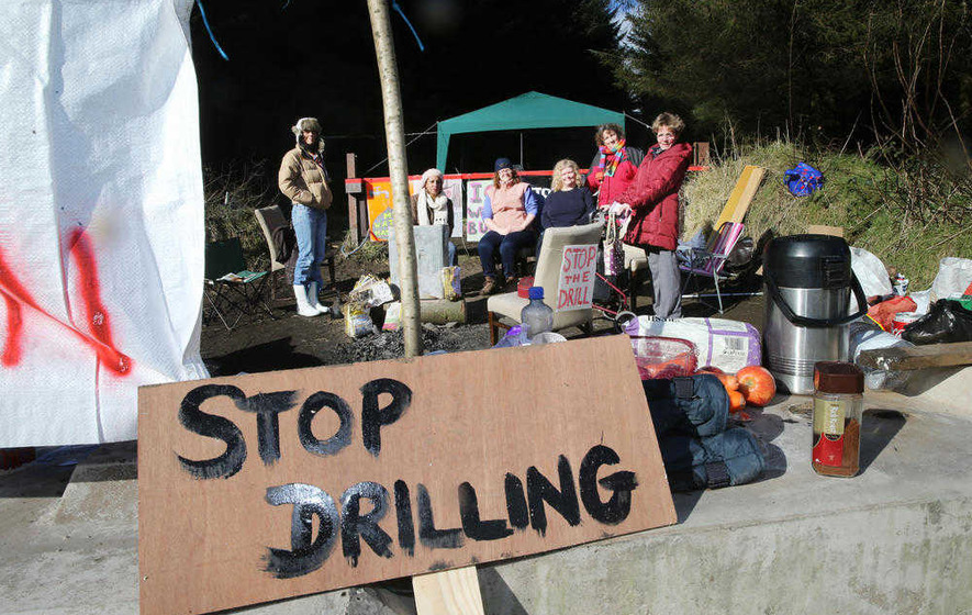 Protesters against Co Antrim oil drill take first steps to have decision overturned