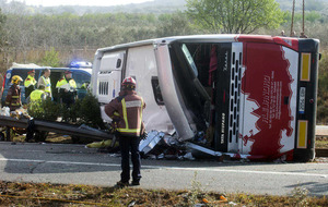 Driver of Spanish crash bus which killed 13 students 'may have fallen asleep'