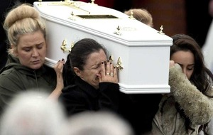 No words can describe mother's heartbreak, mourners are told