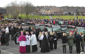 Derry comes to a standstill for funerals of pier death victims