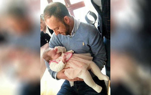 Buncrana pier tragedy: Rescuer Davitt Walsh cradles baby he saved