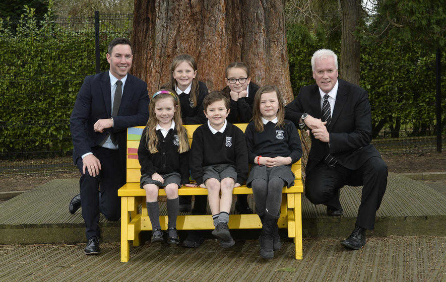 First Buddy Benches Delivered To Northern Ireland Schools